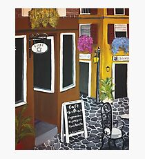 Outdoor cafe Acrylic Painting Photographic Print