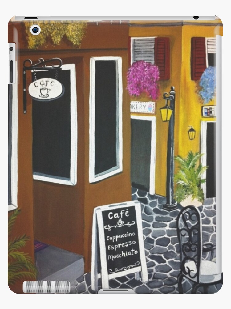 Outdoor cafe Acrylic Painting by Melissa Renee