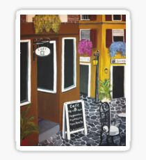 Outdoor cafe Acrylic Painting Sticker