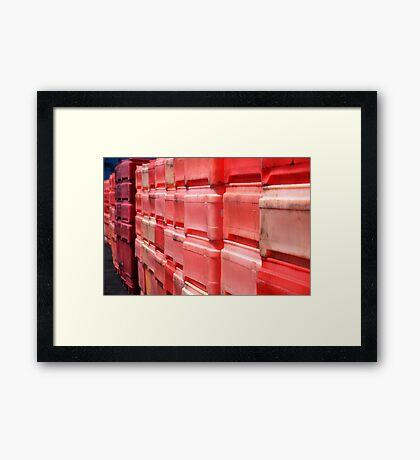 Red Boxes Framed Print