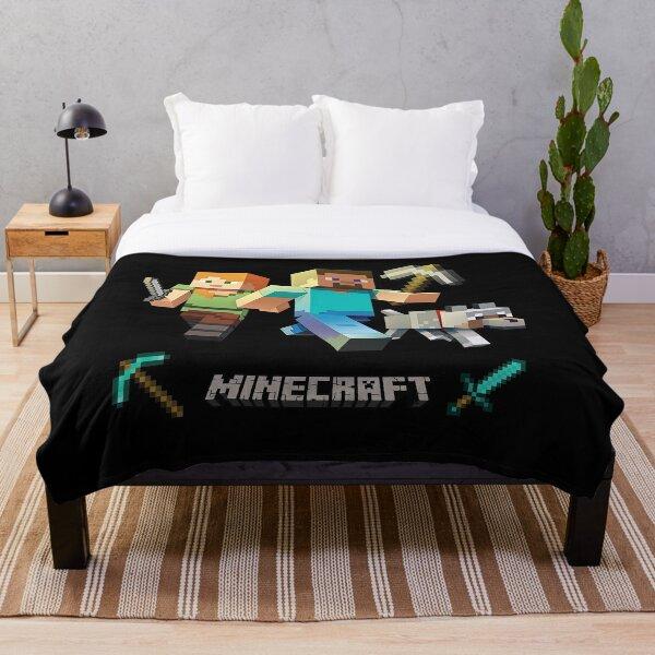 Minecraft Heroes Throw Blanket