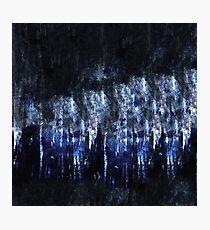 abstract blue black Photographic Print