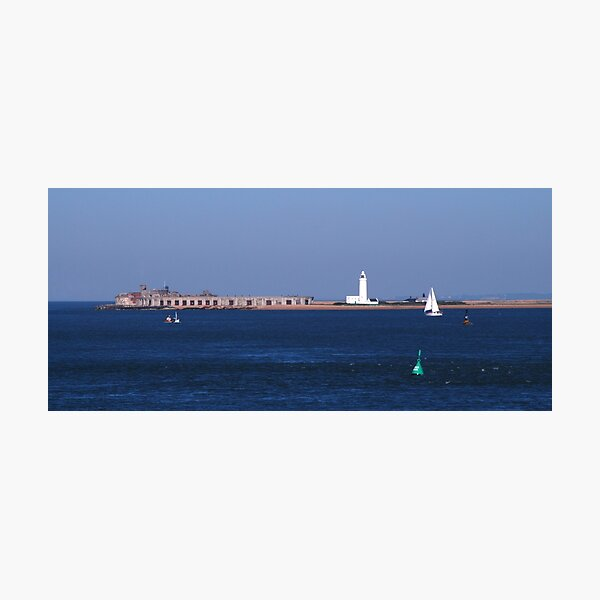 Hurst Castle and Lighthouse Photographic Print