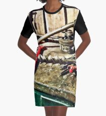 Two Red Wrenches on Plumber's Workbench Graphic T-Shirt Dress