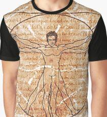 da vinci's Gallifreyan Man Graphic T-Shirt