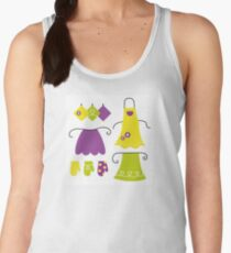 Stylized vintage apron collection - 60s and 70s Inspired Design Collection Women's Tank Top