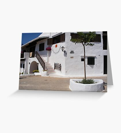 A white village in Menorca. Greeting Card