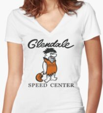 Glendale Speed Center Women's Fitted V-Neck T-Shirt