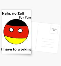 German Countryball Postcards