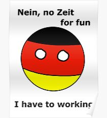 German Countryball Poster