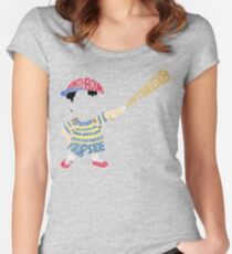 Ness Typography Women's Fitted Scoop T-Shirt