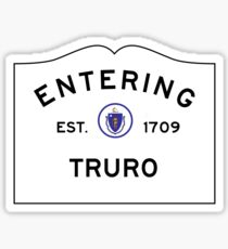 Entering Truro - Commonwealth of Massachusetts Road Sign Sticker