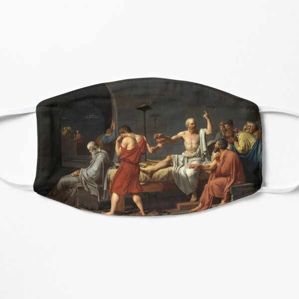 The Death of Socrates by JL David Flat Mask