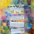Mixed Media Nursery Poem You Are My I Love You by Laura Bell