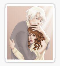 Dramione. Hug. Sticker