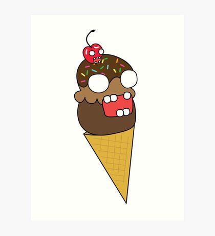 zombie ice cream Art Print