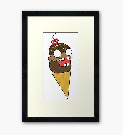 zombie ice cream Framed Print