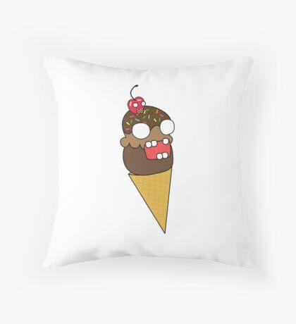 zombie ice cream Throw Pillow