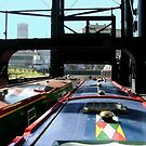 Anderton boat-lift......on the way down ! by Roy  Massicks