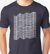 Herringbone – Navy & White Unisex T-Shirt
