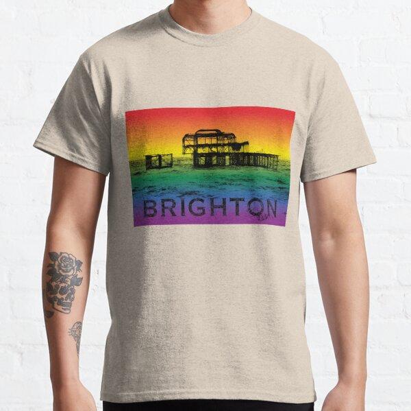 Brighton West Pier, rainbow design. Classic T-Shirt