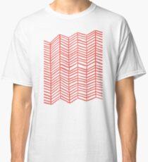 Coral Herringbone Classic T-Shirt