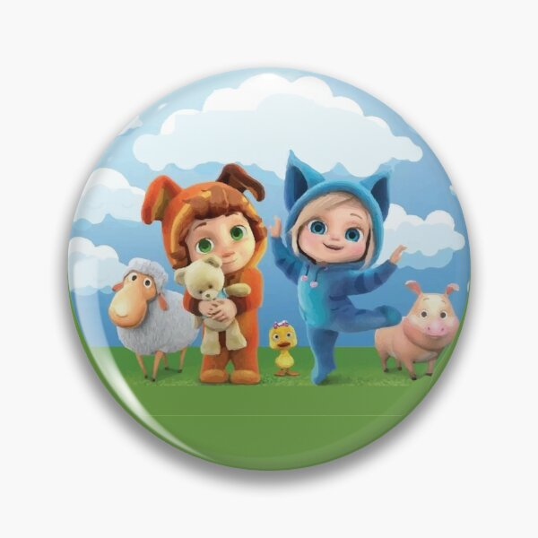 Dave and Ava Character Pin