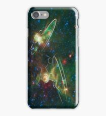 Enterprise Nebula With Outline of the Starships iPhone Case/Skin