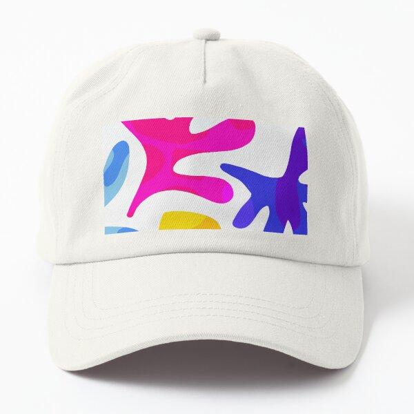 Matisse Summer Shapes Close-up Nº2 - Minimal & colourful pattern Dad Hat