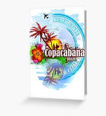 Copacabana Brazil Greeting Card