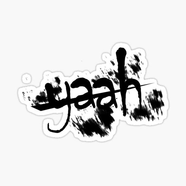 yaah art - back and white art Sticker