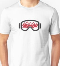 Reflected Mountains in Ski Goggles T-Shirt