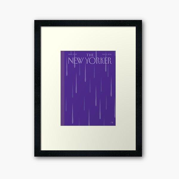 Prince Purple Rain New Yorker Magazine Cover  Framed Art Print