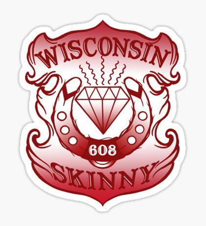 Wisconsin Skinny Shield Sticker