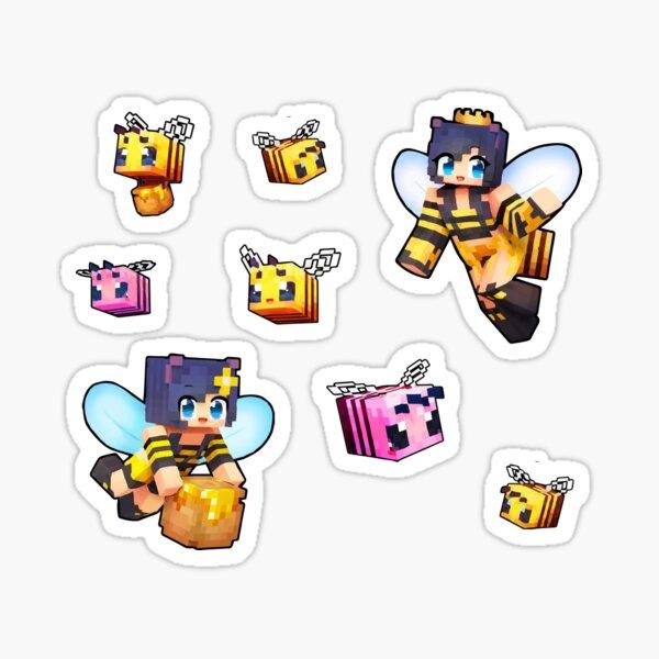 Aphmau Bee Queen Sticker Pack Minecraft Bees Sticker