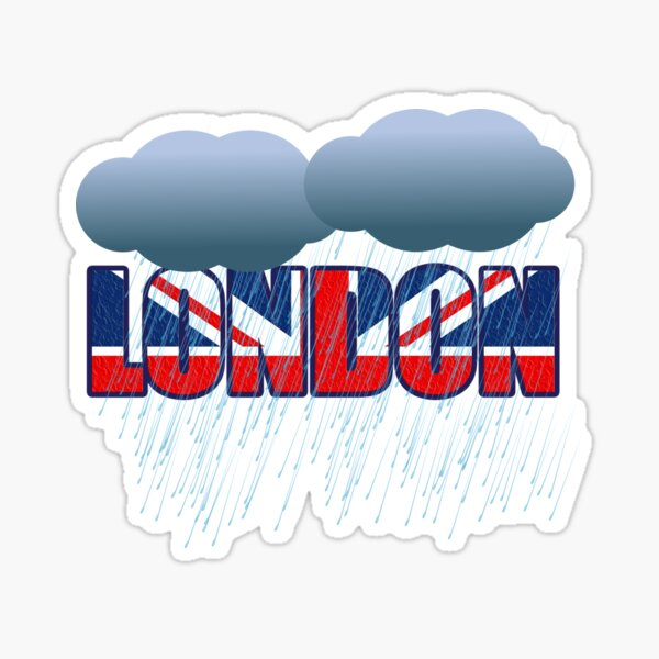 London Always Cloudy Or Rainy Sticker