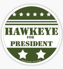 For President Hawkeye Sticker