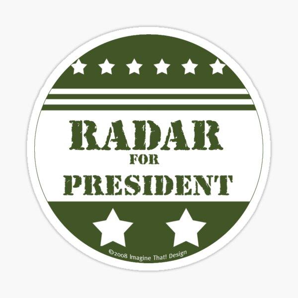 For President Radar Sticker