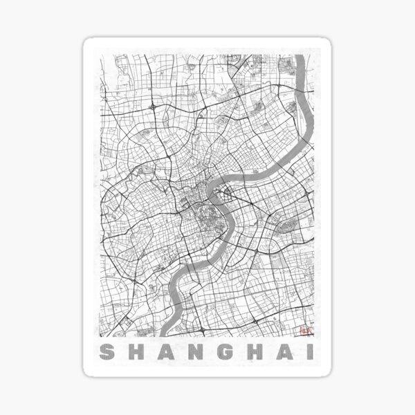Shanghai Map Line Sticker