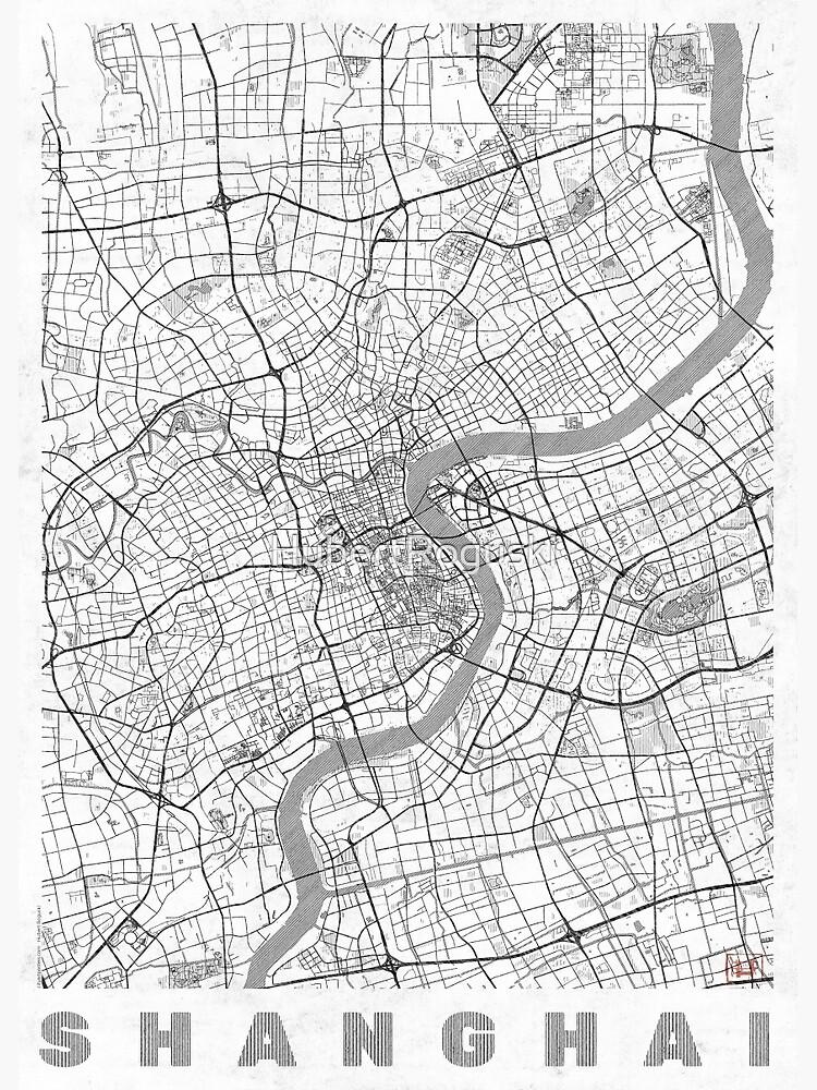 Shanghai Map Line by HubertRoguski