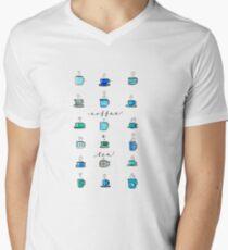 Coffee Mugs and Teacups Men's V-Neck T-Shirt