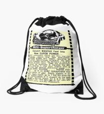 Mini Supercharger advert. Drawstring Bag