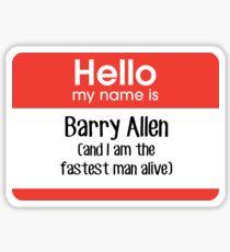 Mein Name ist Barry Allen ... Sticker