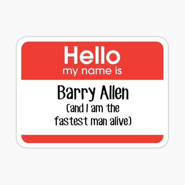 Me llamo Barry Allen ... Pegatina