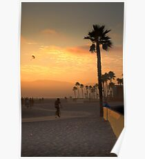 Los Angeles - Venice Beach at Sunset Poster