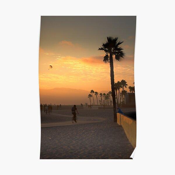 Los Angeles - Venice Beach au coucher du soleil Poster