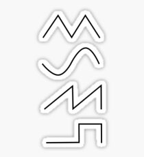 synth waves  Sticker