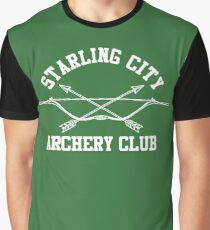 Starling City Archery Club – Arrow, Ollie Queen Graphic T-Shirt