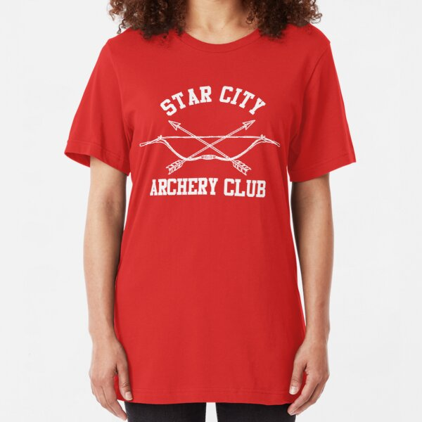 Star City Archery Club – Green Arrow, CW Slim Fit T-Shirt