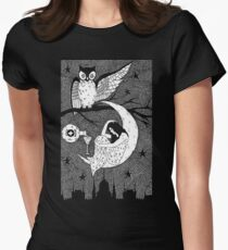 Thirsty Owl by Allie Hartley  Women's Fitted T-Shirt